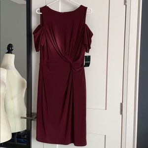 New with tags Ralph Lauren Dress Cranberry